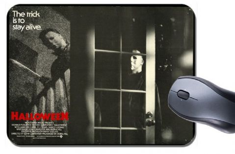 Halloween 1978 Movie Poster Mouse Mat. Classic John Carpenter Horror Mouse Pad